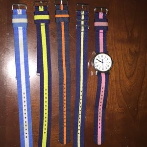 Timex weekender nylon unisex watch w/4 extra bands